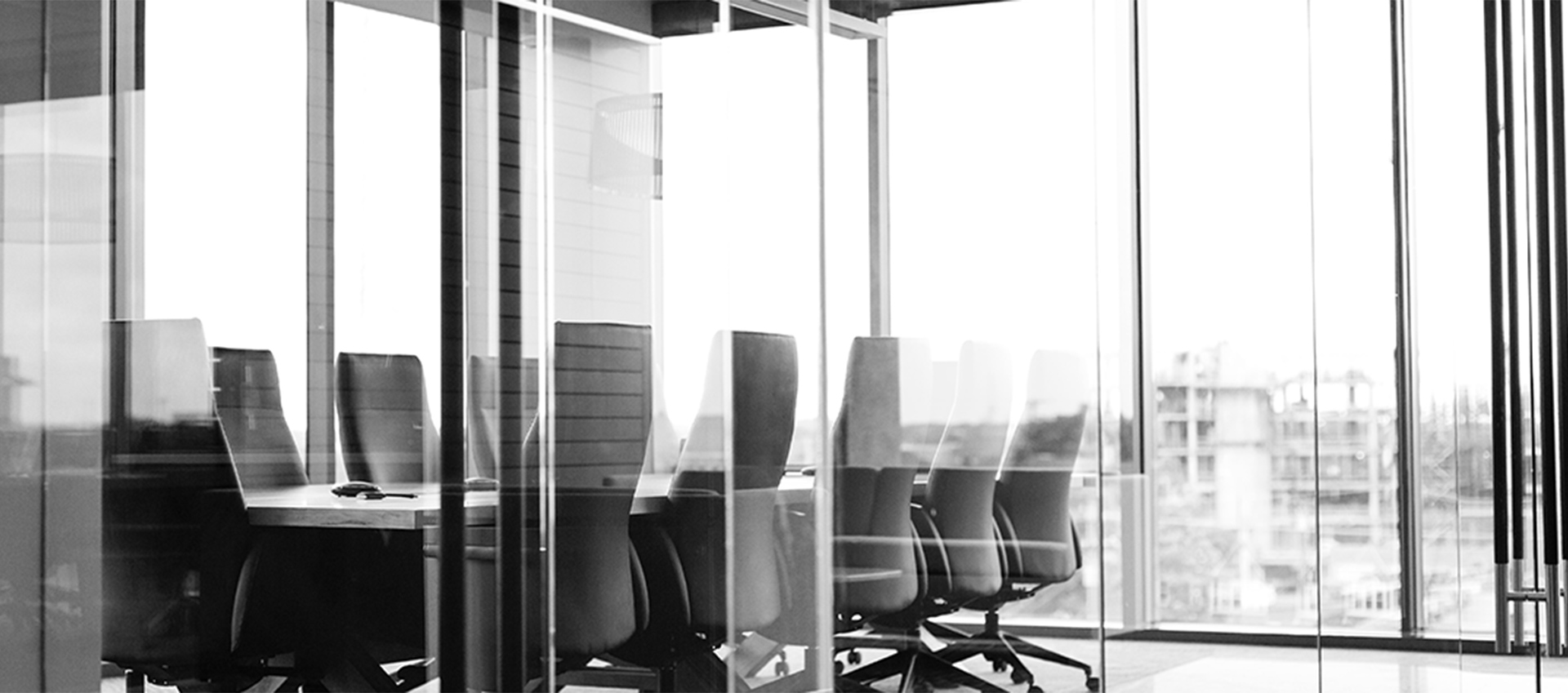 Photograph of an empty office